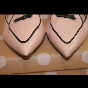 J. Crew Shoes - J.Crew Two-tone Pointed-toe Pink & Black Loafers